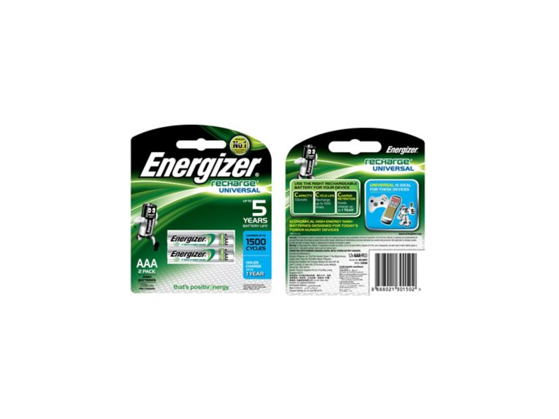 Energizer HR11  AAA Rechargable Batteries - Pack of 2