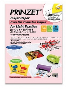 PRINZET Iron-On Transfer Paper for Light Textiles