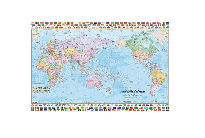 WRITEBEST WORLD MAP & FLAGS