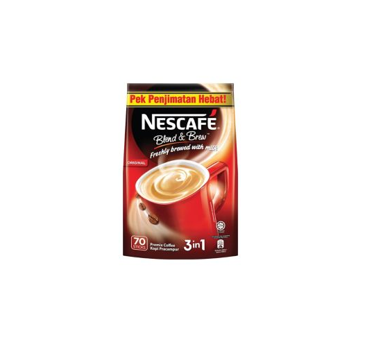 Nescafe 3 in 1 Coffee Pack of 70 Regular