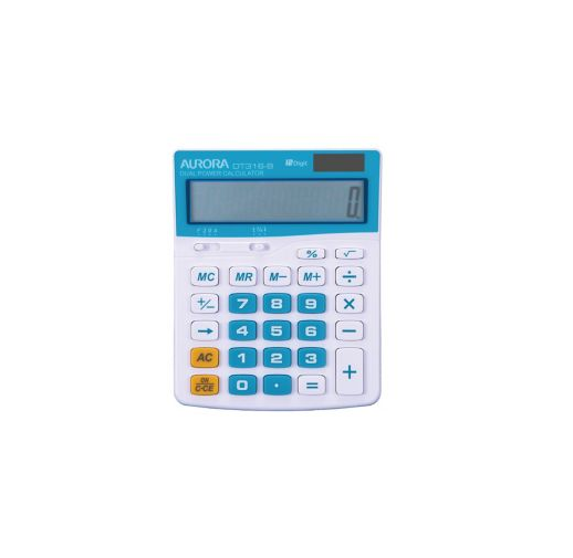 Aurora DT-316B & DT-31R Desktop Calculator Blue