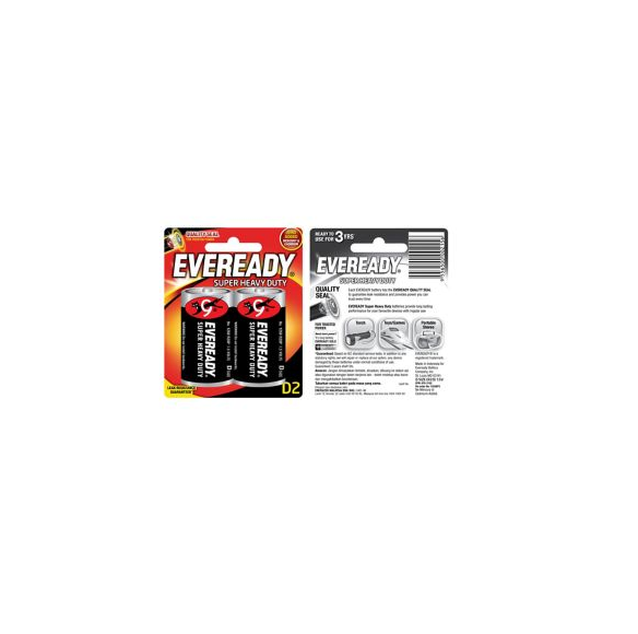 Eveready Super Heavy Duty Batteries D x 2