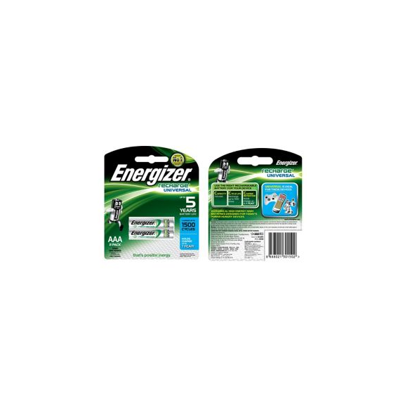 Energizer Rechargeable Batteries AAA x 2