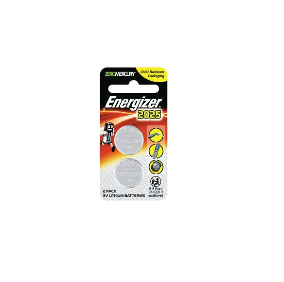 Energizer Calculator Batteries ECR2025 x 2