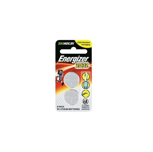 Energizer Calculator Batteries ECR2032 x 2