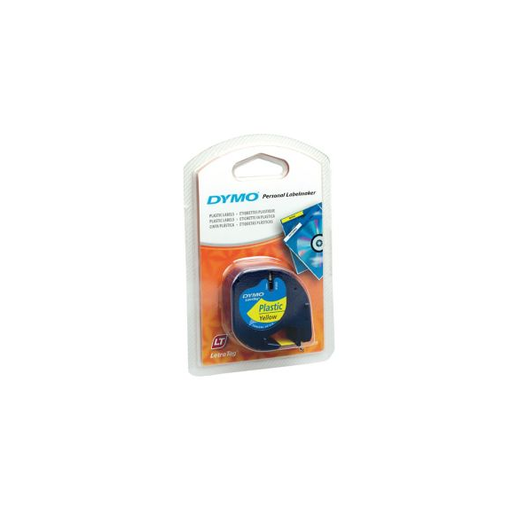 Dymo LetraTag Coloured Plastic Tapes 90202 Hyper Yellow