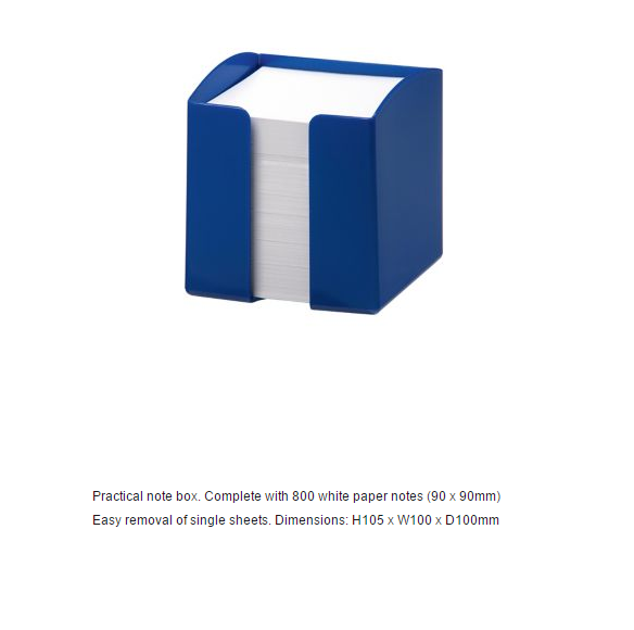 Durable Note Box Blue