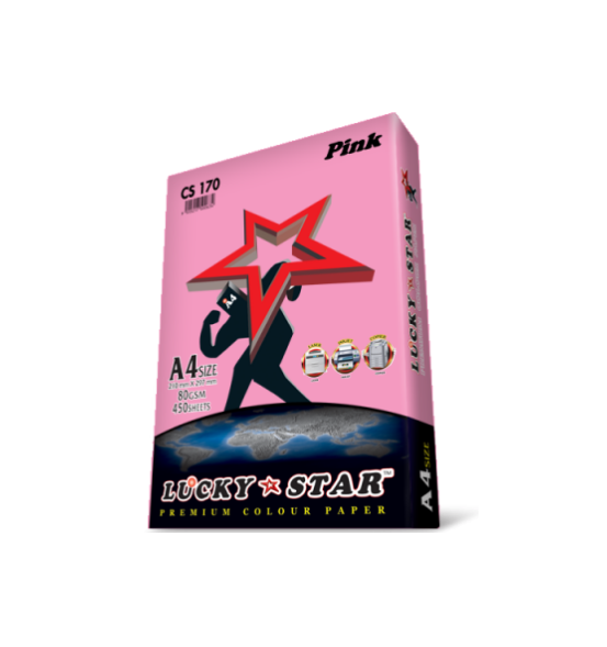 LUCKYSTAR PREMIUM COLOUR PAPER PINK