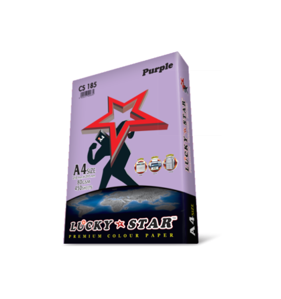 LUCKYSTAR PREMIUM COLOUR PAPER PURPLE