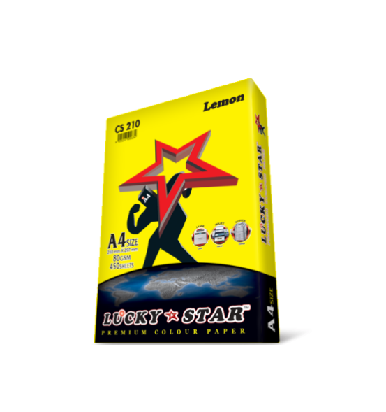 LUCKYSTAR PREMIUM COLOUR PAPER LEMON