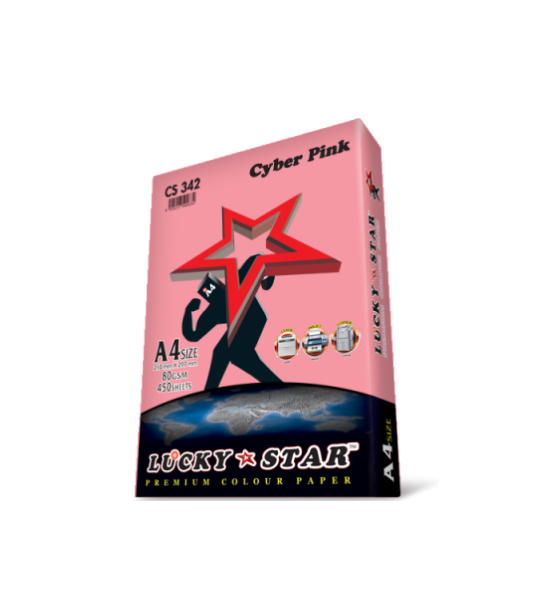LUCKYSTAR PREMIUM COLOUR PAPER CYBER PINK