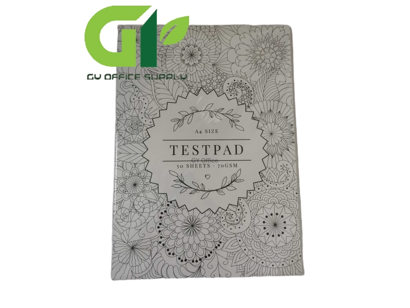 Test Pad A4 Size 50 Sheets 70GSM